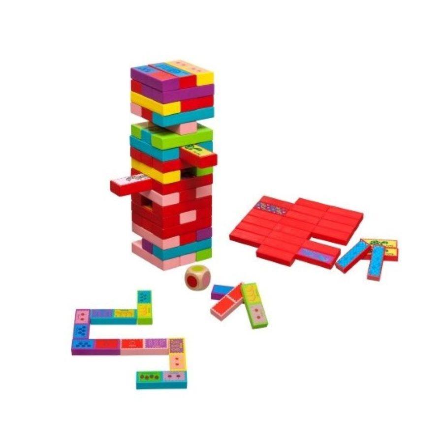 Spēle jenga, domino