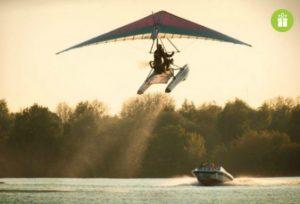 lidojums ar deltaplanu no udens vai lidlauka