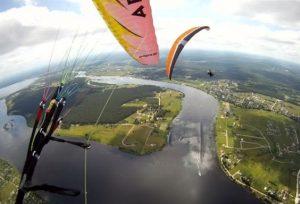 lidojums ar paraplānu foto un video