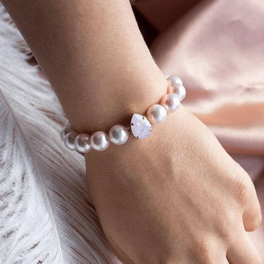 Nela Gems pērļu rokassprādze